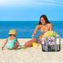 YOOFAN Borsa da Spiaggia-Borsa Grande a Rete da Spiaggia - Grande Mercato per Lo Stoccaggio di Giocattoli Lavabili e Traspiranti