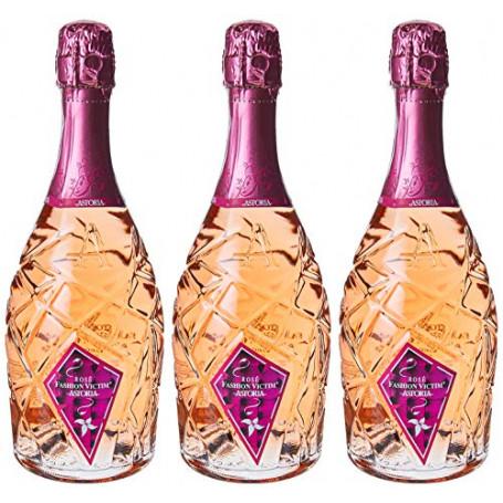 """Astoria Rose""""Fashion Victim""""Spumante - 3 bottiglie da 750 ml"""