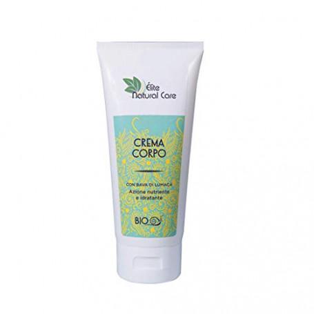 Elite Natural Care Crema Corpo Bava di Lumaca Acido Ialuronico Olio d'Argan Burro di Karité Azione Nutriente e Idratante Effica