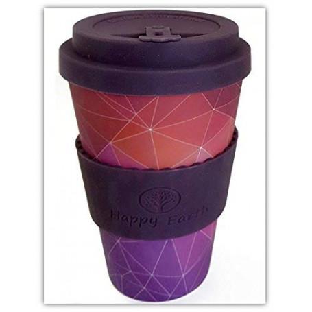 STARGAZER di Happy Earth (Riutilizzabile tazza da caffè Eco-Friendly 450ml, realizzata con fibra di bambù naturale biologica)