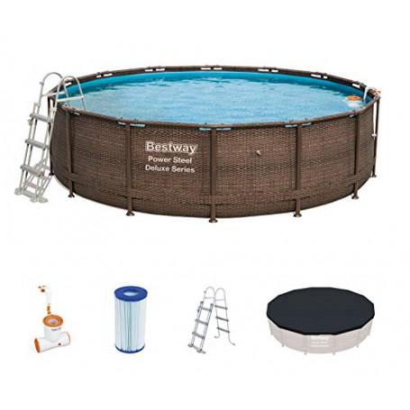 Bestway 56664 piscina fuori terra Piscina con bordi Piscina rotonda 13030 L Marrone
