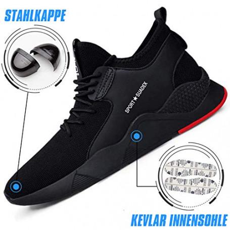 Scarpe Antinfortunistica Uomo Donna Leggere Scarpe da Lavoro con Punta in Acciaio Scarpe Sportive di Sicurezza Traspirante Estiv