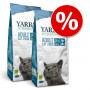 Set Risparmio! 2 x Yarrah Bio crocchette per gatti - Pollo bio & Pesce senza cereali (2 x 2,4 kg)