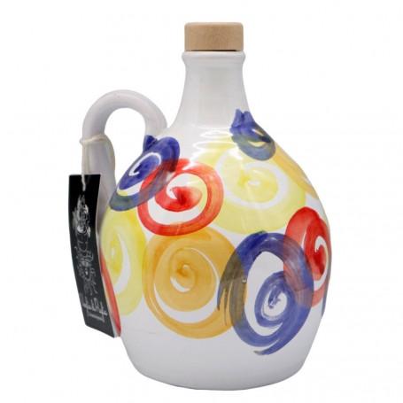 Olio Extravergine Di Oliva Selezione Monovarietale Peranzana Da Olive A Filiera Corta Orcio In Ceramica 500 ml