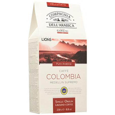 Caffè Corsini Caffè Macinato Colombia - 4 confezioni da 250 gr