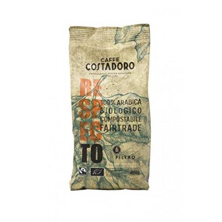 CAFFE' COSTADORO Caffè Respecto, 100% Arabica, Biologico, Fairtrade, Compostabile Macinato Per Filtro, Sacchetto Da 200G - 200