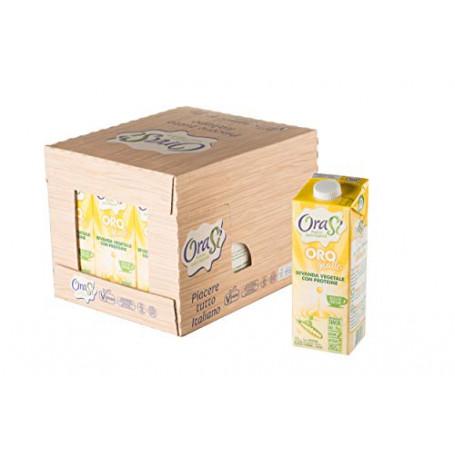 Orasì Orogiallo Bevanda Vegetale Proteica, Originale, 1 Litro, 12 Unità