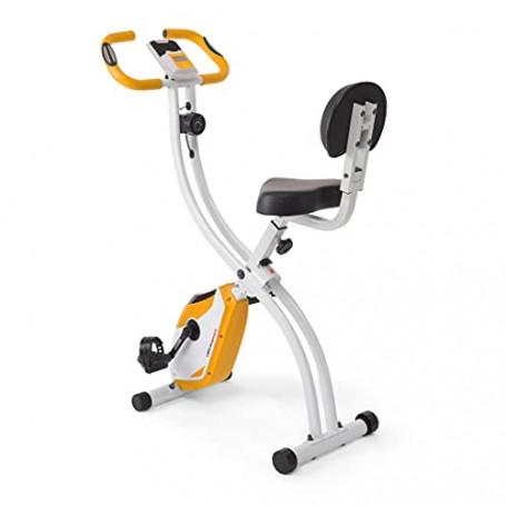 Ultrasport Trainer da Casa F-Bike 200B, Bici da Fitness con Sensori delle Pulsazioni con Schienale Ripiegabile Unisex-Adulto, Ar