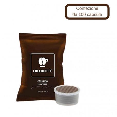 Lollo Caffe' Compatibile Lavazza Espresso Point  100 Capsule *** CONFEZIONE 1 pz., Miscela Classica