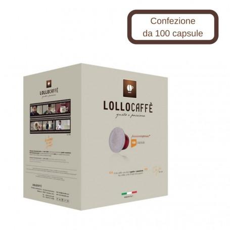 Lollo Caffe' Compatibile Nespresso Miscela Oro Passionespresso 100 Capsule