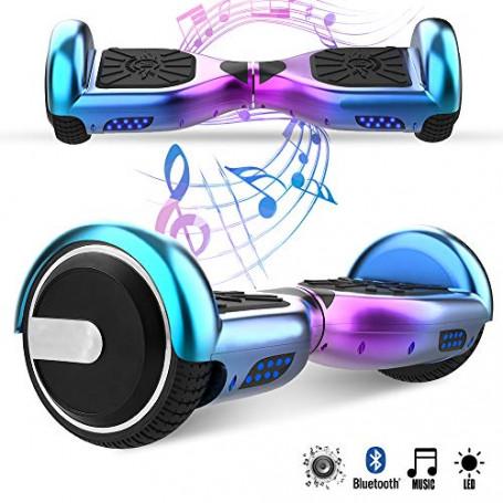 Magic Vida Skateboard Elettrico 6.5 Pollici Bluetooth con Due Barre LED Monopattini elettrici autobilanciati di buona qualità p