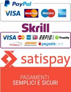 PayPal visa satispay